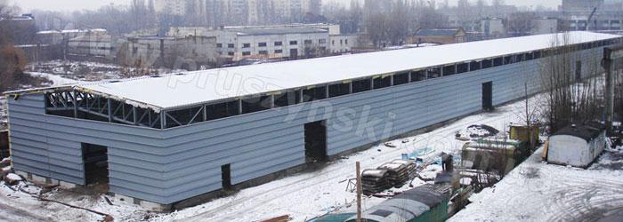 Фото 5. Каркасная конструкция навеса для крупногабаритного транспорта (г. Харьков).