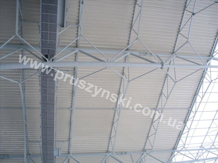 Фото 9. Перфорированный профнастил для кровли стадиона «Днепр-Арена»