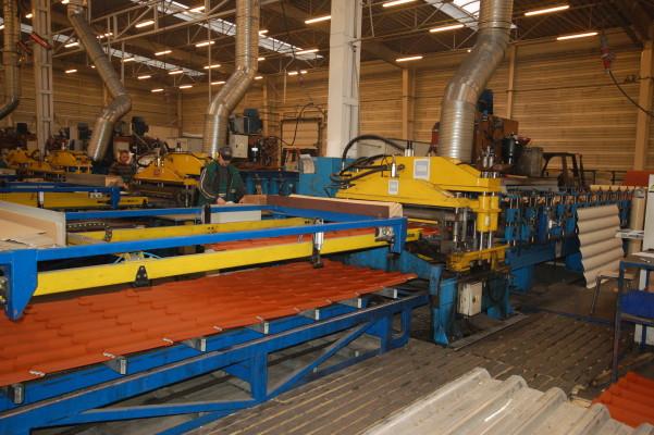 Линия по производству металлочерепицы Шафир