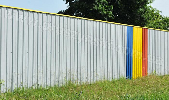 Фото 4. Забор из профлиста Т10, полиэстер RAL 9006, 5005, 1021, 3005