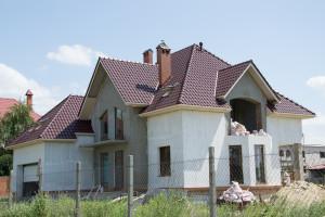13 Николаев, частный дом Черепица Крон 3005 крупный мат, Прушиньски