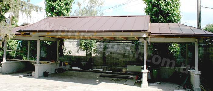 Фото 1. Фальцевая крыша после монтажа своими руками
