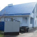 Металлочерепица Шафир RAL 5010 полиэстер (пгт Згуровка Киевская обл)